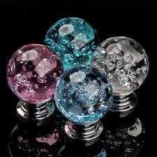 1 Pcs Crystal Bubble Round Ball Clear Door Drawer Knob Handle Cabinet Furniture