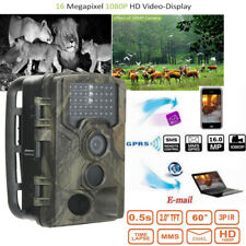 16MP Hunting Camera 2G GSM 1080P Night Vision Waterproof IR Wildlife Trail Cam