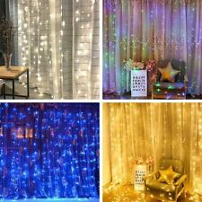Window Curtain Icicle Lights String Fairy Light 300LED Wedding Party Home Garden