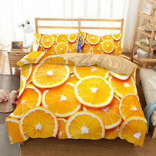 Summer Tropical 3D Pineapple Lemon Print Bedding Set Duvet Cover Pillowcase