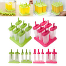 6 Cell Frozen Ice Cream Tray Pan Kitchen Lolly Mould DIY Pop Mold Popsicle T2Z6M