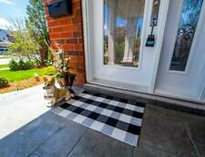The Original Outdoor Porch Rug - Checkered Door Mat for Layering with Welcome Ma