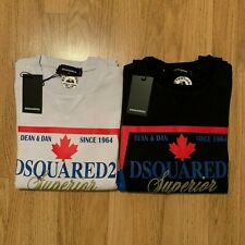Men's DSQUARED2 Superior Sweatshirt, Pullover in Black & White, See Sizes