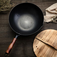 Wok Traditional Chinese Iron Non-stick Pan Non-coating Gas Cooker Cookware Pot