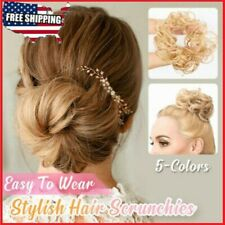 Messy Rose Bun Easy-To-Wear Stylish Hair Scrunchies Multi colors USA STOCK