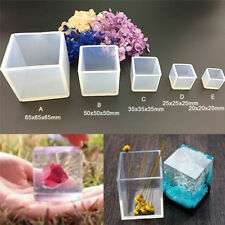 DIY Silicone Pendant Mold Jewelry Making Cube Resin Casting Mould Craft TooRCUS