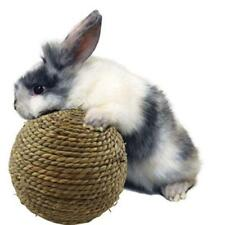 Pet Chew Play Toy Grass Ball with Bell for Rabbit Hamster Guinea Pig Rat T3