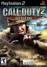 Call of Duty 2 Big Red One - Authentic Sony Playstation 2 PS2 Game