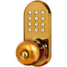 Wireless Remote Controlled Doorknob With Keypad