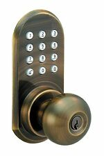 Wireless Remote Controlled Door Knob With Keypad