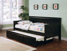 NEW Daybed with Trundle in Black, Oak, and Cherry
