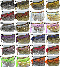 New Belly Dancing Hip Scarf Skirt Wrap Costumes 211 Copper Coins For All Seasons