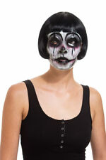 Plastic Clown Scary Mask Mardi Gras Bengals Gothic Halloween Costume Accessory
