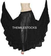 TMS Black Ruffle Full Circle Skirt Belly Dance TRIBAL