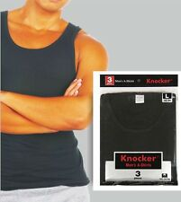 3 pcs MENS BLACK A-SHIRTS TANK TOP WIFE BEATER ANY SIZE