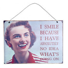 *24* Funny RETRO METAL WALL SIGN PLAQUES Vintage Style