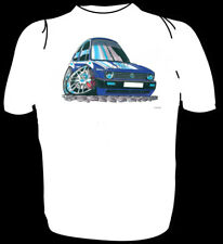 KOOLART TSHIRT -VW GOLF MK I - BLUE - 6 SIZES