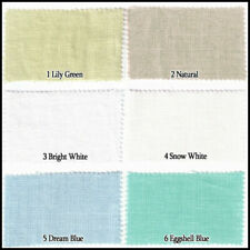 LINEN FLAX 100% FABRIC HEAVY UPHOLSTERY DRAPERY 11COLOR