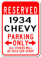 1934 34 CHEVY  Parking Sign