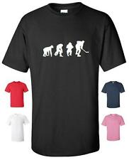 EVOLUTION OF ICE HOCKEY FUNNY T-SHIRT MENS WOMENS