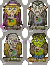 LITTLE MONSTERS HALLOWEEN MAKE UP DRACULA WITCH FRANKENSTEIN GHOUL FACE PAINTS