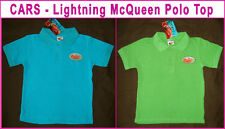1 x DISNEY CARS SHIRT Lightning McQueen POLO TOP Short Sleeve - Sz 3 4 or 5  NEW