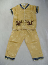 BN boys chinese costumes 2 piece set for 9-10 age gold with  trimmings