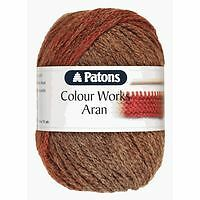 PATONS COLOUR WORKS ARAN KNITTING PATTERN BOOKS - POST FREE (UK)