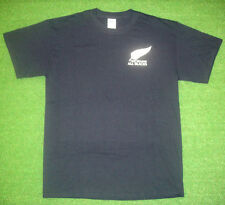 New Zealand All Blacks Shirt (Black & White) Rugby World Cup 2015 T-Shirt Jersey