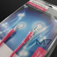 PINK AUXILIARY CABLE CORD for SAMSUNG PHONES - JACK 3.5mm CAR AUDIO AUX WIRE