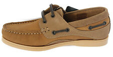 Ladies Womens Yachtsman Seafarer Leather Deck Shoes Boat Brown All Sizes BNIB