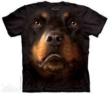NEW THE MOUNTAIN ROTTWEILER FACE ADULT T SHIRT