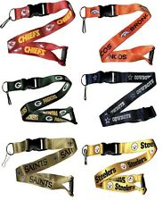 NFL Football Team Logo Lanyard Breakaway Keychain- Pick Team