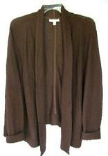 Coldwater Creek LONG Sleeved, Open Front, Textured Cardigan - COLORS!