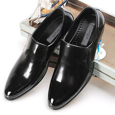 New Handmade Mens Leather Dress Formal Black Shoes Loafers Slip On Casual