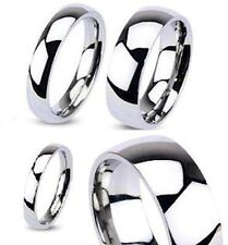 316L Stainless Steel Mirror Polished Classic Traditional Wedding Band Ring