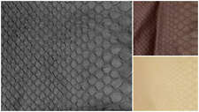 "SNAKESKIN SNAKE EFFECT FAUX LEATHER LEATHERETTE UPHOLSTERY FABRIC 60"" X 1 M"