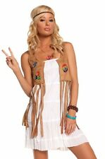 Sexy 60s 70s Outfit Hippie Girl Dress Halloween Costume