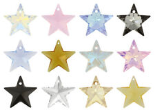 SWAROVSKI ELEMENTS 6714 Crystal Star Pendant - All Sizes & All Colours