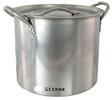 STAINLESS STEEL CATERING STOCK POT CASSEROLE BOILING POT STEW SOUP POT