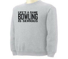 Bowling Life's A Game Bowling Bowlers Sport Adult Sweatshirt