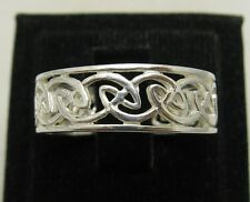 STERLING SILVER RING SOLID 925 PLAIN CELTIC BAND NEW SIZE G - Z EMPRESS