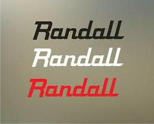 "(2) 8"" randall vinyl Decal sticker any size color surface car  amp marshall S068"