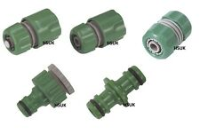 GARDEN HOSE FITTING MALE/FEMALE ADAPTER WATER STOP  THREADED TAP CONNECTOR