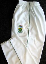 WHITE CRICKET TROUSER WITH SOUTH AFRICA LOGO MENS TEST