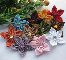 100/20pcs Ribbon Flower Appliques Bauhinia wedding decoration craft A2000 UPick
