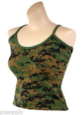 womens slim fit juniors tank top woodland digital camo camouflage rothco 4977