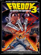 A NIGHTMARE ON ELM STREET 3 Movie Poster Freddy Kruger