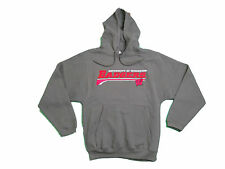 WISCONSIN BADGERS ADULT GREY EMBROIDERED HOODED SWEATSHIRT NWT