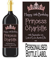Personalised Bottle Label Birthday Gift Favour Wine, Spirit Or Champagne BDBL 4